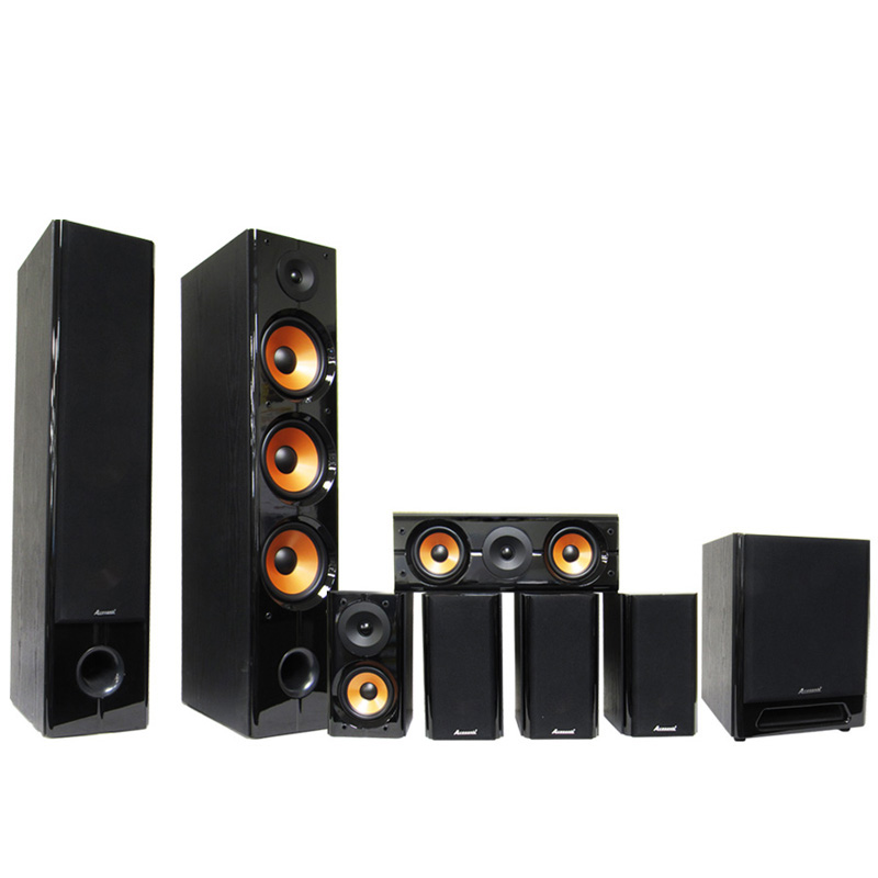 acesonic sp 710 7 1 surround sound karaoke home theater speaker system ebay. Black Bedroom Furniture Sets. Home Design Ideas